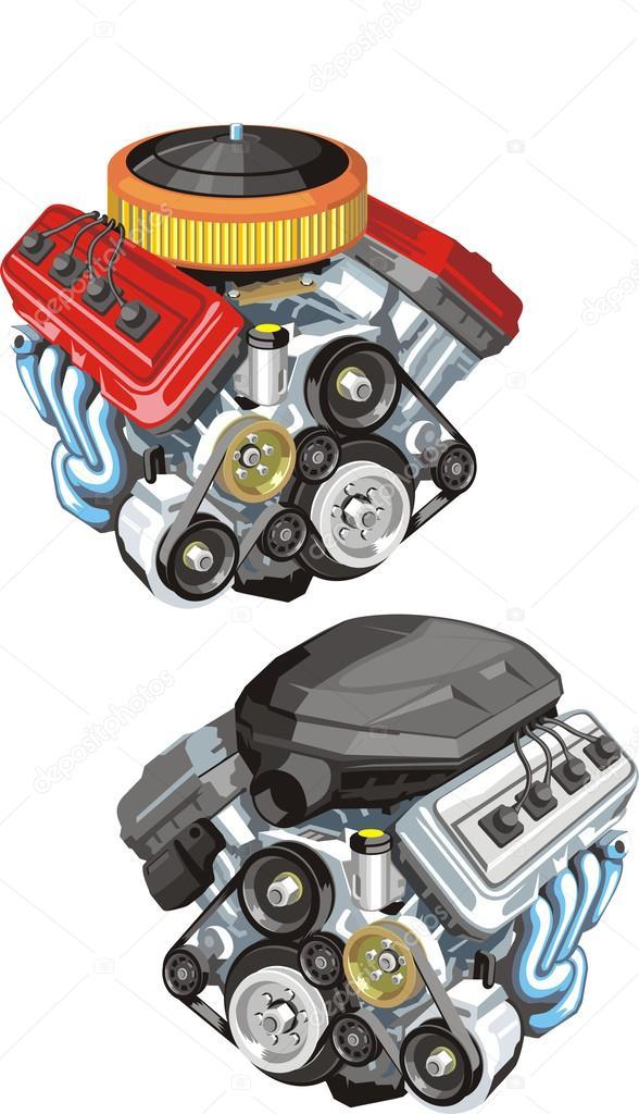 Araba Motorları Stok Vektör Kokandr 38244317