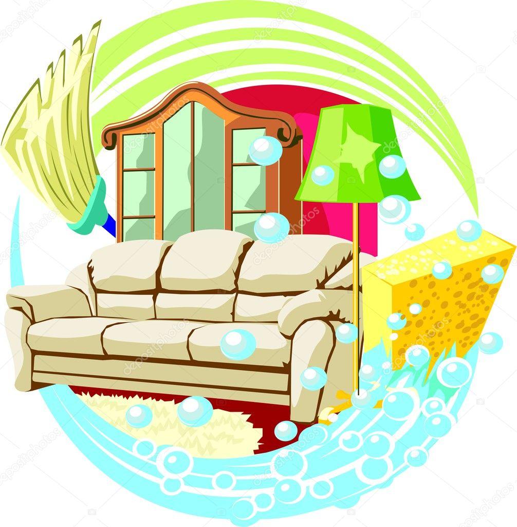 Intérieur de maison propre image vectorielle 38244597
