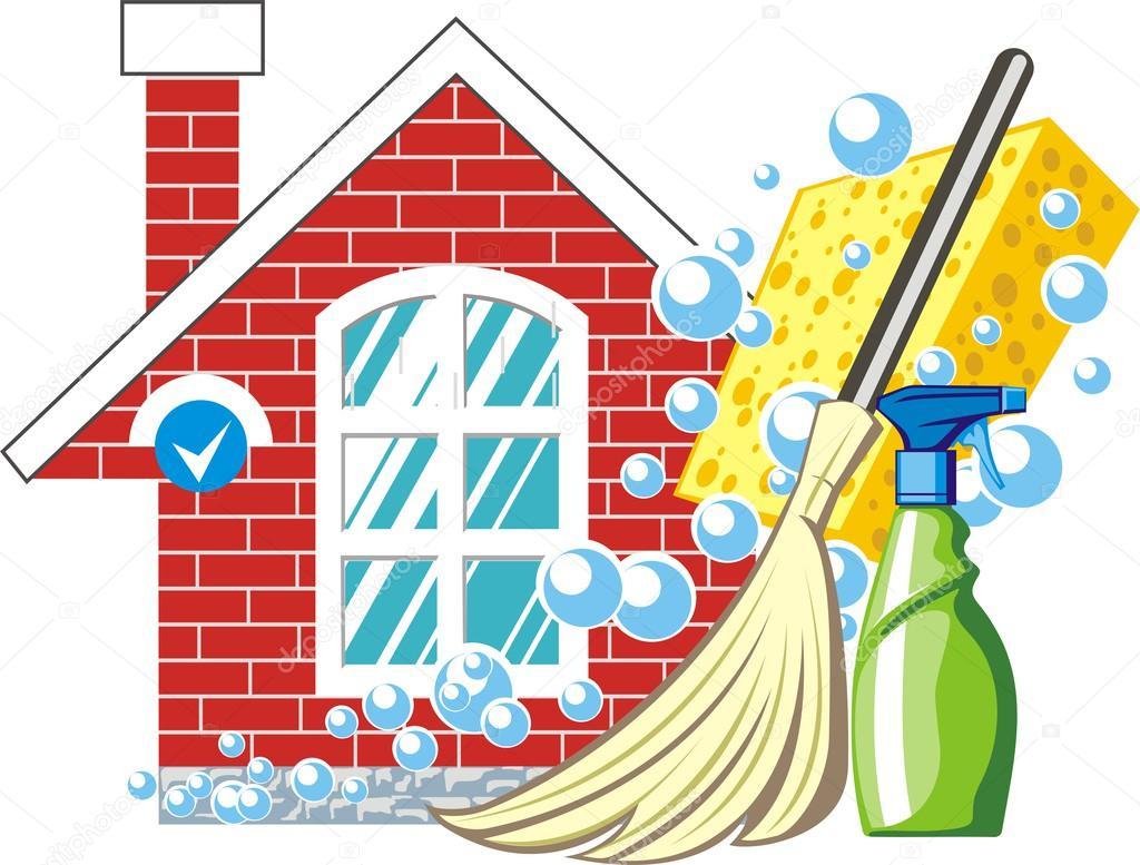 Limpiando la casa vector de stock kokandr 45687067 for House cleaning stock photos