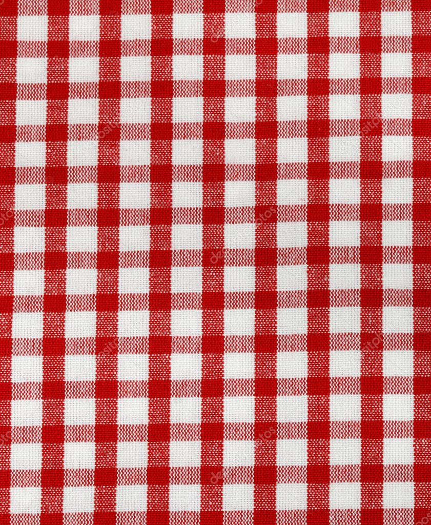 Kitchen Towel In The Red Checkered   Use As A Background U2014 Stock Photo