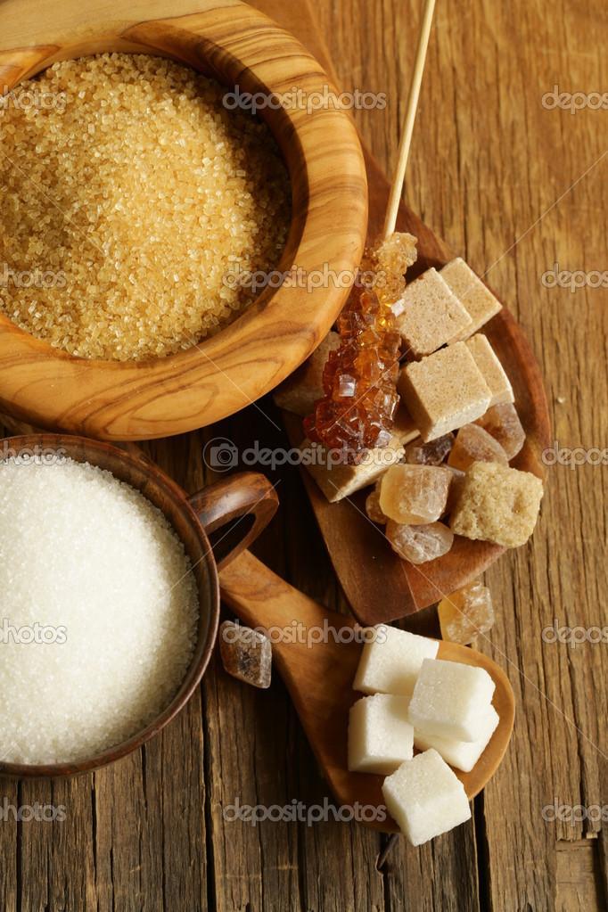 olika sorters socker
