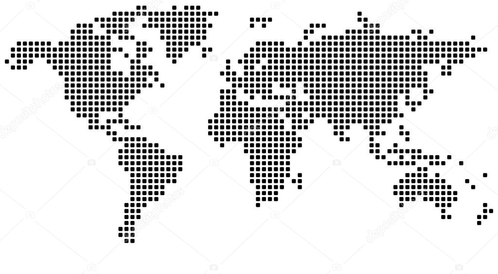 Dotted world map stock vector lajo2 36109127 dotted world map stock vector gumiabroncs Choice Image