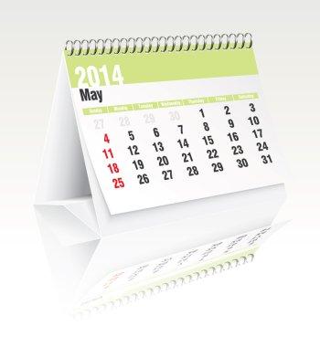 may 2014 desk calendar