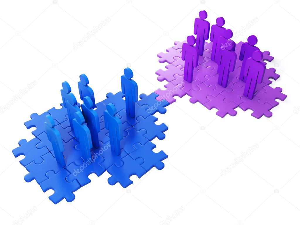 3d Illustration: Business ideas. Business cooperation, to find t