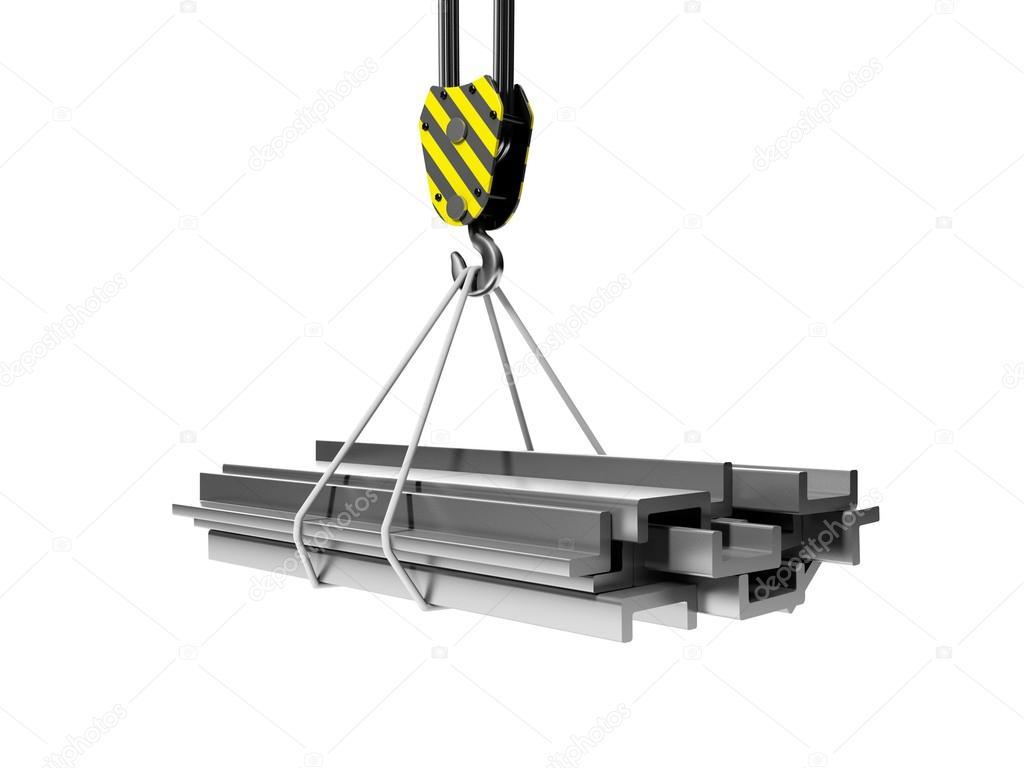 3d illustration: Industry and remont.Gruppa metal structures and
