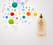 parfémy láhev postřik barevné bubliny