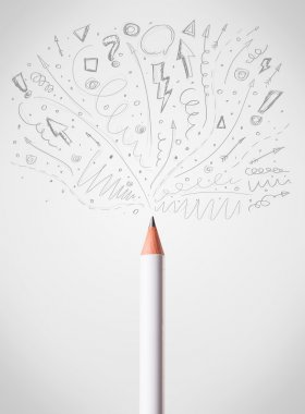 Pencil drawing sketchy arrows