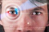Cyber muž s technologie oko hledá