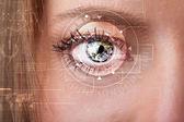 Fényképek Cyber lány technológia szem keres