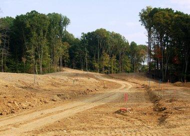 Land development for for homes stock vector