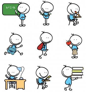 school boy doodle