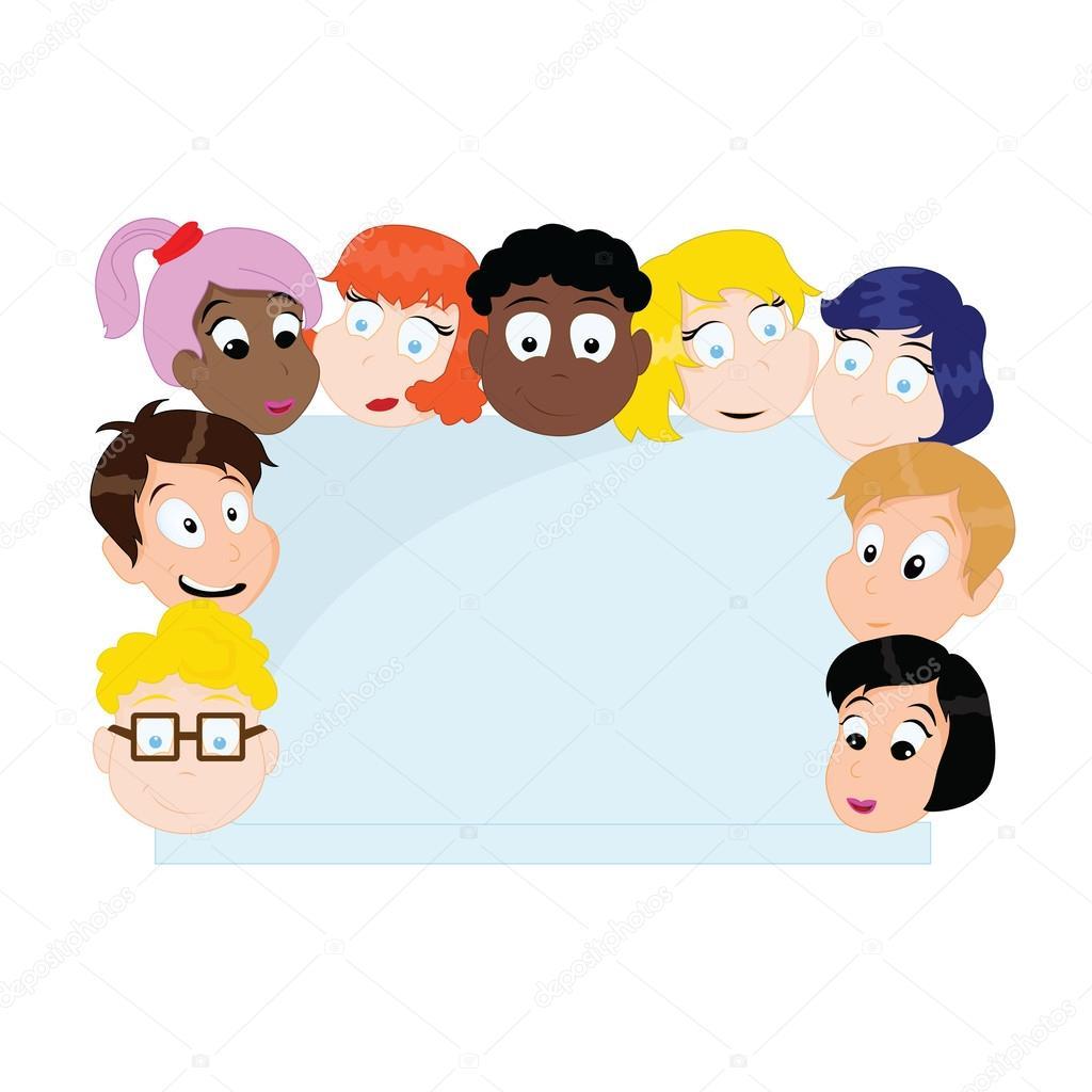 Groupe d 39 enfants de dessin anim image vectorielle glossygirl21 40935799 - Dessin groupe d enfants ...