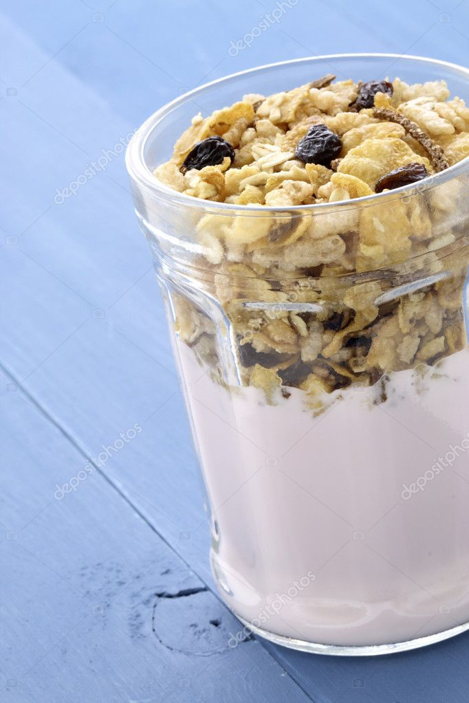 healthy and delicious parfait