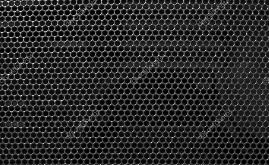 Metal holed grid background Black hole — Stock Photo ...