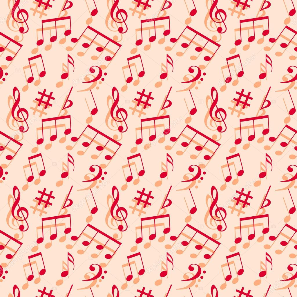 Wallpapers Music Notes Music Notes Seamless Wallpaper