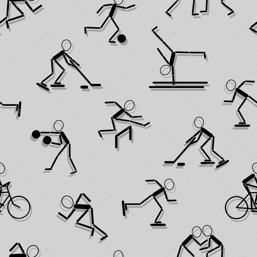 Iconos Del Deporte. Fondo De Pantalla Transparente