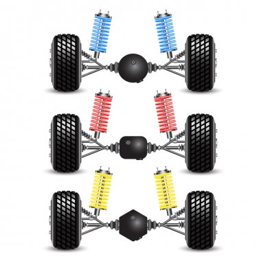 Set rear suspension car with different gearing.