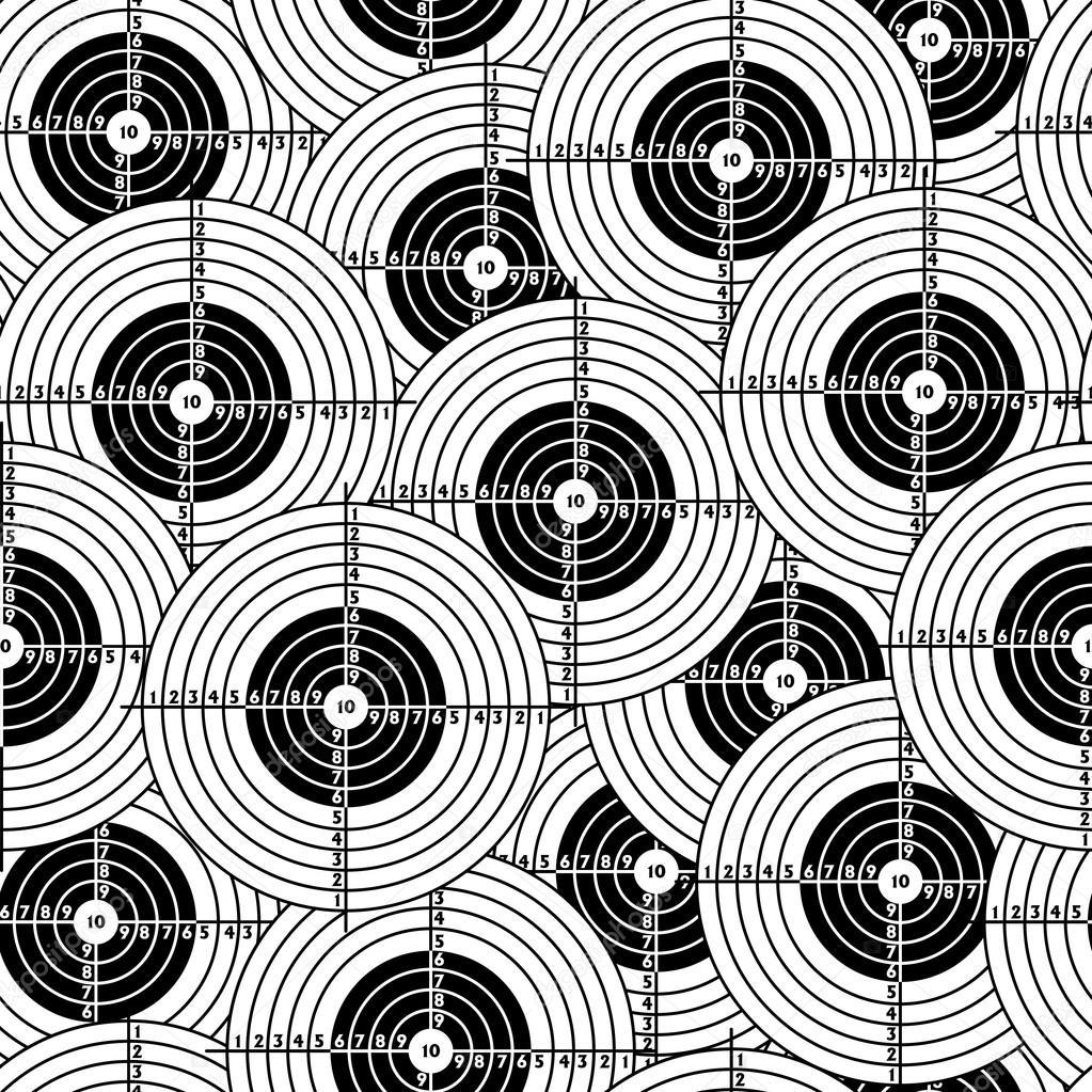 シームレスな壁紙黒ターゲット ストックベクター C Aarrows 34508463