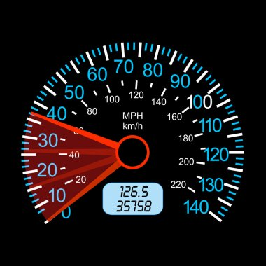 car speedometer for racing design.