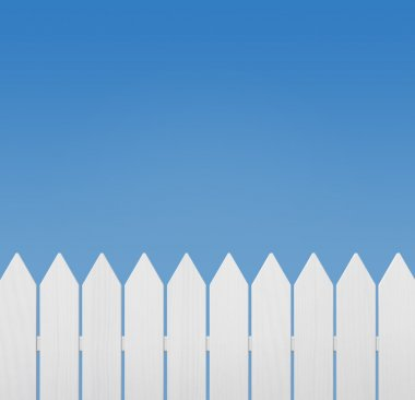Wooden fence against clear sky