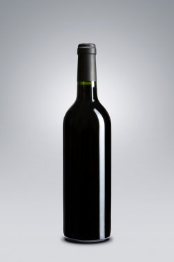 Blank wine bottle