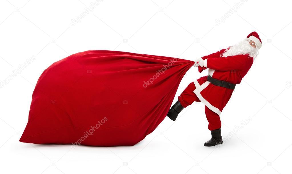 Santa Claus with huge bag