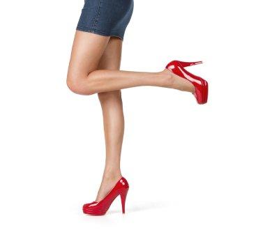 Close up of elegant female legs