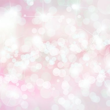 Pink bokeh background with copy space