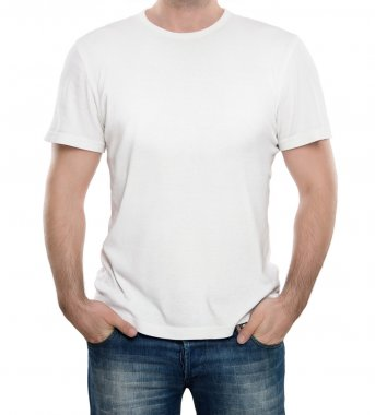 Blank white t-shirt with copy space