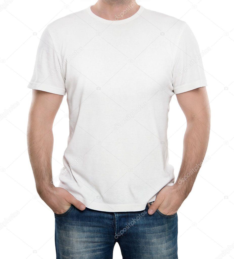 lege witte t shirt met kopie ruimte — Stockfoto © Rangizzz