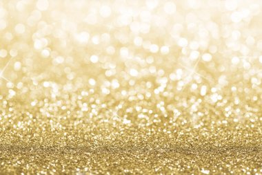 Gold defocused glitter background with copy space stock vector