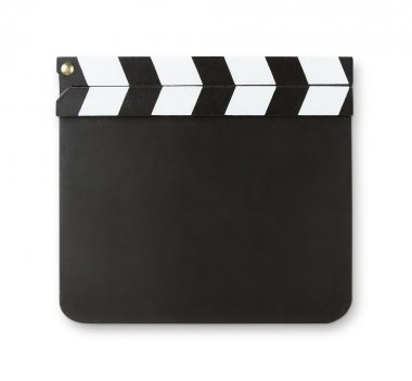 Blank clapboard with copy sapce
