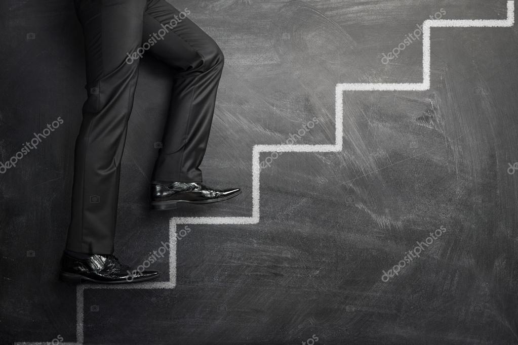 Climbing at the career steps