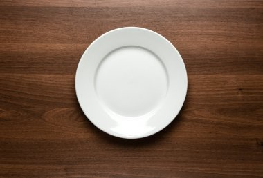 Empty plate with copy space