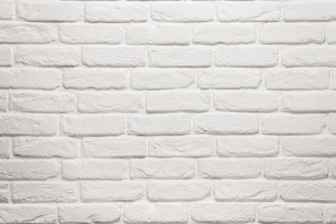 Empty white brick wall