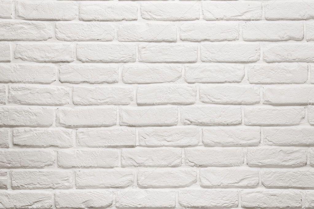 Mur de brique blanche vide photographie rangizzz 23915429 - Parement brique blanche ...