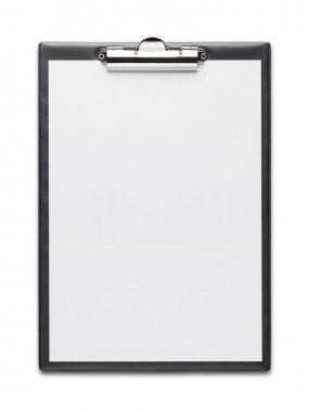 Clipboard with blank paper sheet isolated on white background with clipping path stock vector