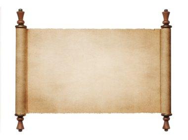 Blank paper scroll