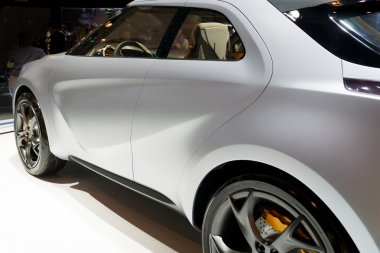 Rear-side view of a modern car