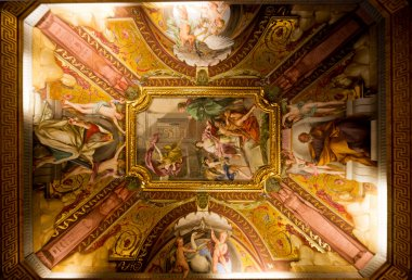 Ceiling in hall in the Vatican museum