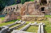 ruiny patrová pahorku v Římě, Itálie