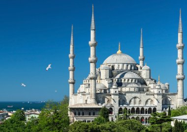View of the Blue Mosque in Istanbul, Turkey