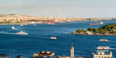 Central Istanbul. View from the Galata.