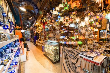 Inside the Grand Bazaar in Istanbul, Turkey