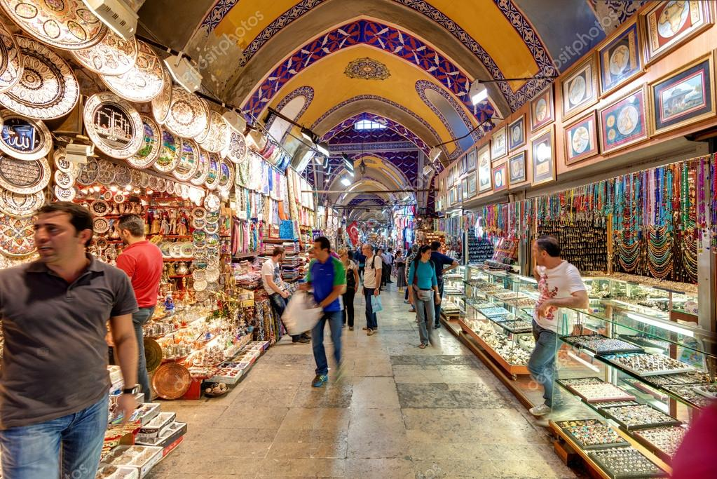 Im Großen Basar in Istanbul, Türkei — Redaktionelles