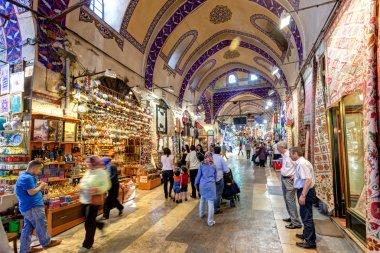 Inside the Grand Bazaar in Istanbul, Turkey