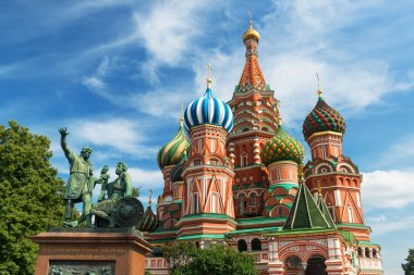 Saint Basil cathedral on the Red Square in Moscow, Russia. (Pokrovsky Cathedral)