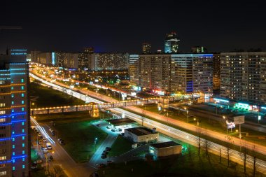 Rublevskoe at night, Moscow