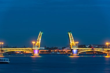 The Blagoveshchensky Bridge during the White Nights in St. Petersburg