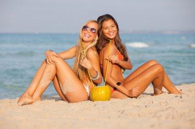 Spring break beach teens